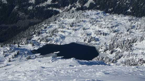Beaverly Lake on the west side of Rainbow Mountain