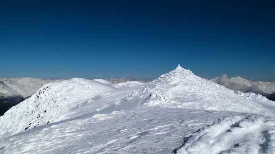 The true summit, from a different angle on the plateau