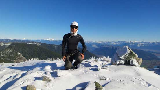 Me on the summit of Deroche Mountain
