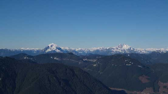 Mt. Robie Reid and Mt. Judge Howay stand out from the horizon