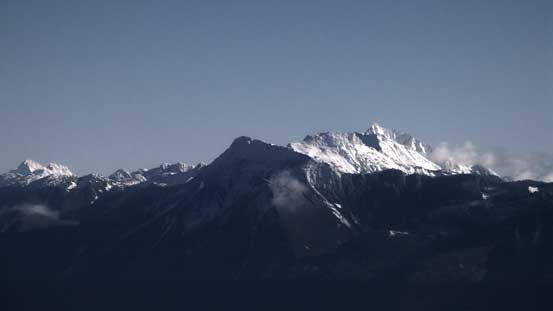 The peaks on Cheam Range