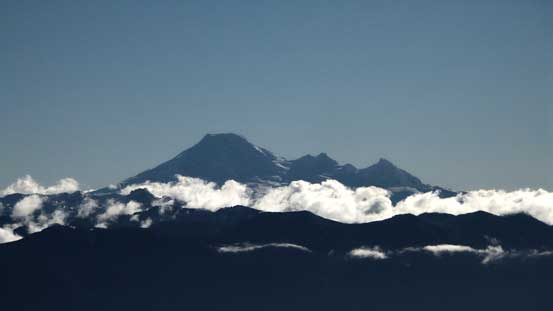 Mt. Baker with Colfax Peak and Lincoln Peak on its right shoulder