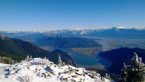 Looking down at Fraser Valley