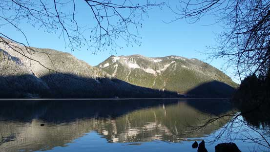 Another view of Jones Lake with part of Four Brothers behind