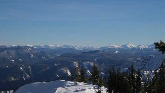 Here's the typical Manning Park scenery