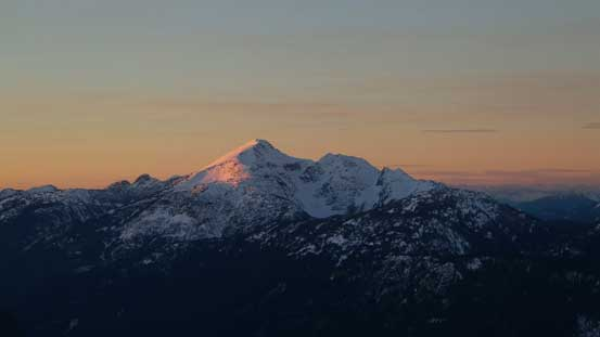 Evening glow on Mt. Outram