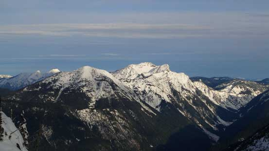 Mt. Dewdney with Mt. Ford on the left