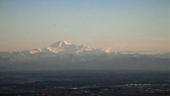 The late-afternoon view of Mt. Baker