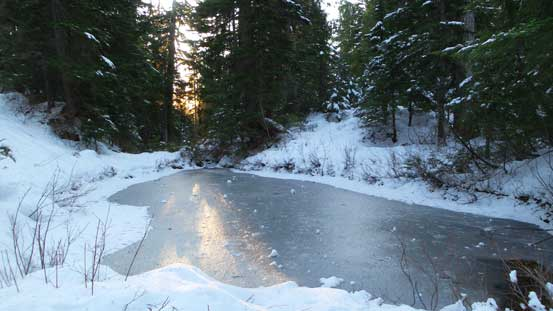 Passing a frozen pond
