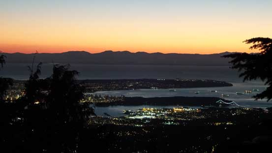 Looking towards Lion's Gate, Stanley Park and UBC