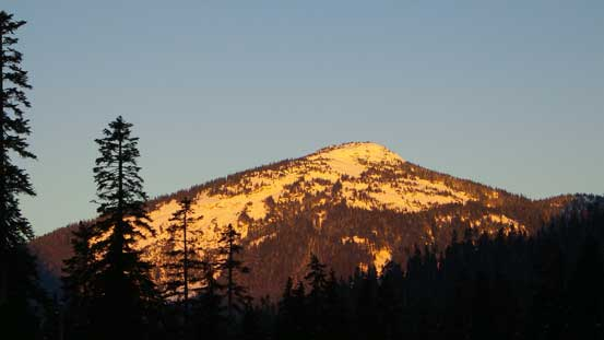Here's my first objective - Zupjok Peak