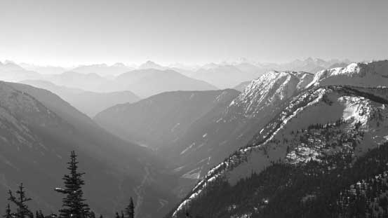 A closer look at the valley that Coquihalla Highway (Highway 5) travels through