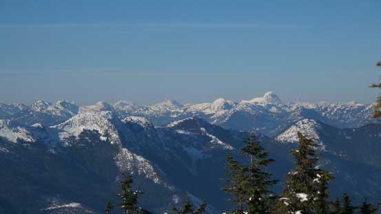 Mt. Urquhart sticks through on the horizon