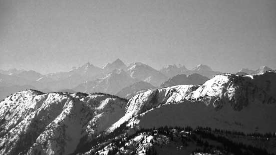 The Cheam Range with Welch Peak being the highest
