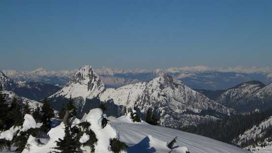 Another look at Gemse Peak (L) and Reh Peak (R)
