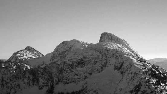 From L to R: Thar Peak, Nak Peak and Yak Peak