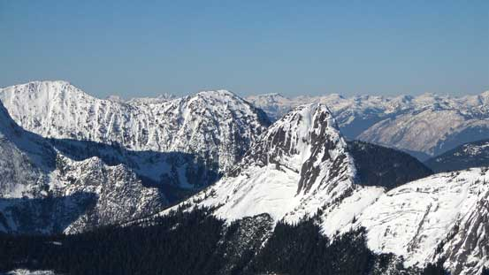 Gemse Peak in the foreground with Anderson River Mountain behind on left