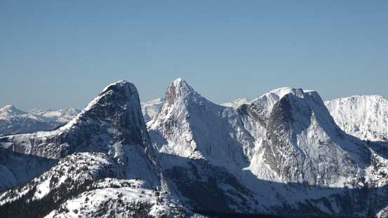 Steinbok Peak, Ibex Peak and Chamois Peak