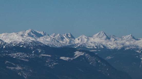 Skihist (L) and Petlushkwohap (R) are the 1st and 2nd highest peaks in SW BC