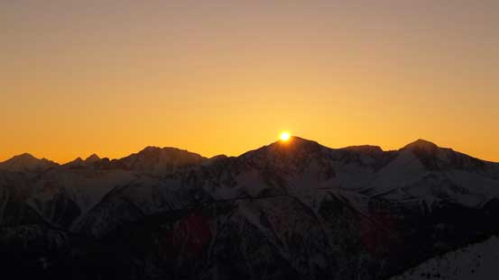 The last bit of sun rays