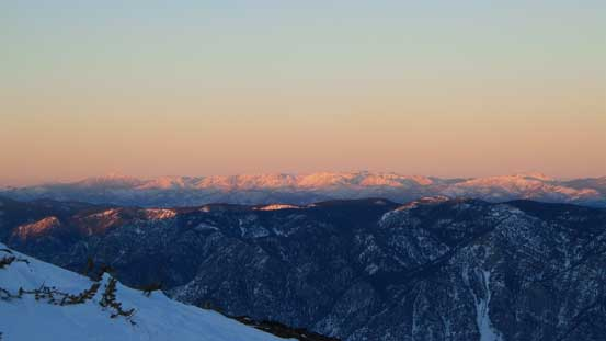 Evening glow on Marble Range by Clinton