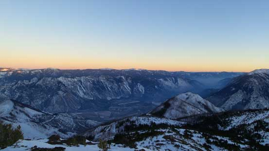 Dusk over the Fraser Canyon
