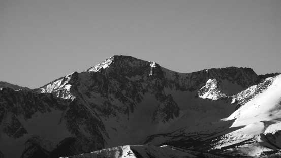 A closer look at Saddlebag Peak (aka. Seton E2). This is Cayoosh Range's second highest peak