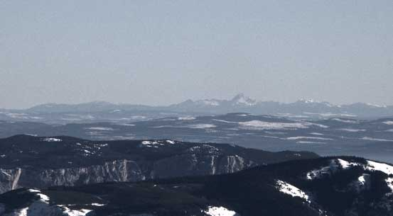 Even peaks in the Monashees are visible. This is Dunn Peak...