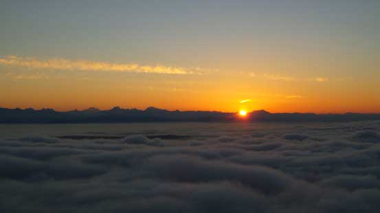 Sunrise over the North Cascades