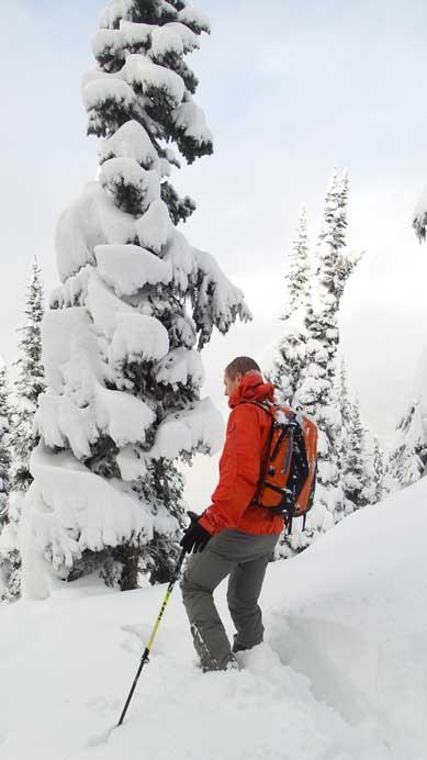 Ben taking a break from the trail-breaking