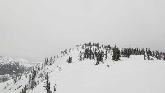 Ascending easy terrain up Great Bear