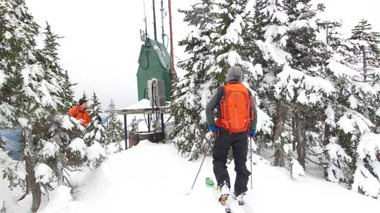 The summit of Great Bear Peak...