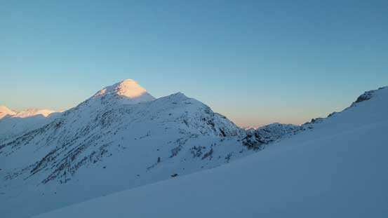 And, morning light on the summit of Ranchere Peak