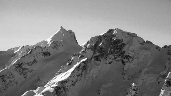 Mt. Matier (L) and Joffre Peak (R) - high on my list for the next year...