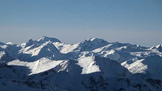 Wedge Mountain (L) is the 4th highest in SW BC; Mt. Weart which I bagged in October on right