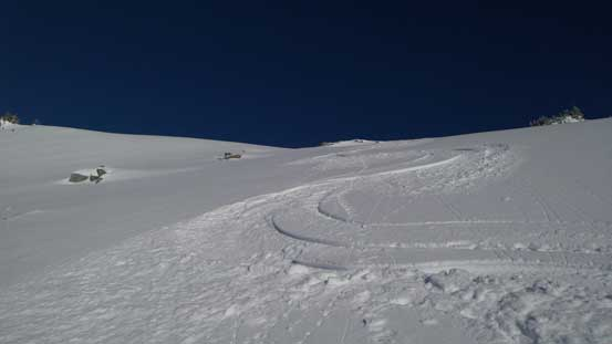 My tracks down the slopes