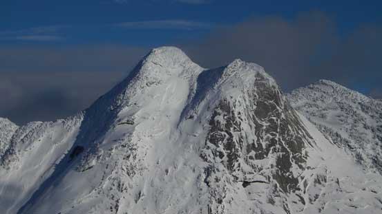 A zoomed-in shot of Yak Peak