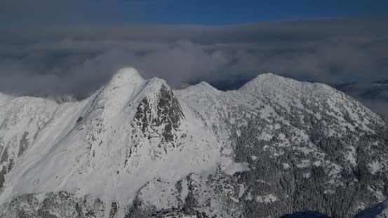 Yak Peak (L) and Nak Peak (R)