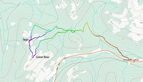 Iago Peak and Great Bear Peak ski routes