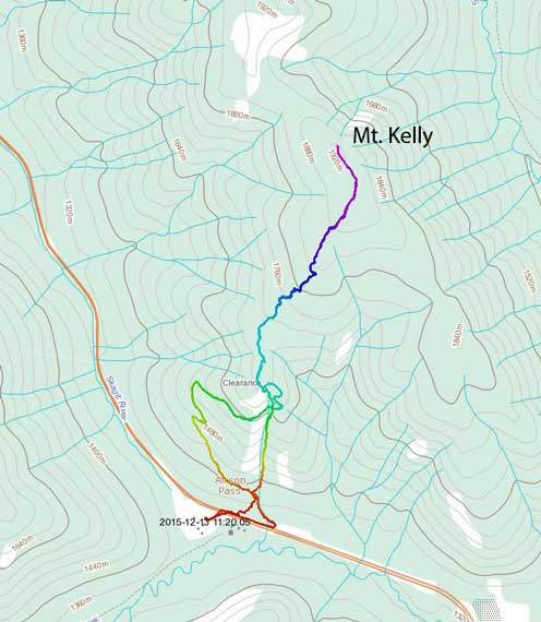 Mt. Kelly ski route