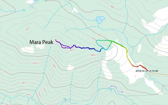 Mara Peak ski ascent route