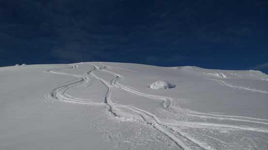 Our ski tracks!!