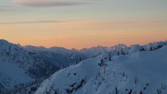 Alpenglow on McBride Range peaks