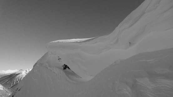 A massive cornice on Hanging Mist Peak