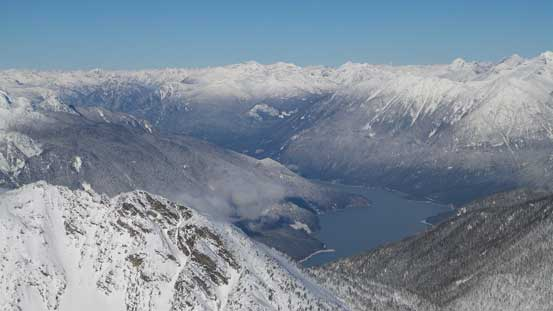 Could see far low down by Lillooet Lake