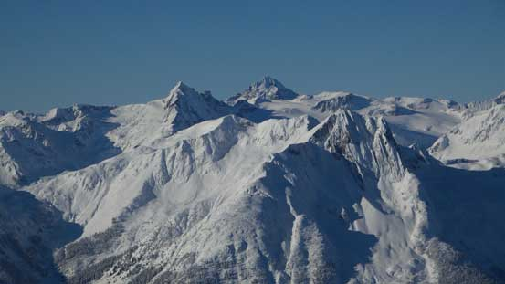 Another view of Mt. James Turner, Wedge Mountain and Gunsight Peak