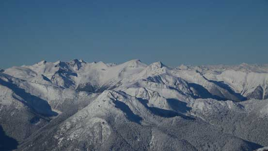 Looking towards Hibachi Ridge and Mt. Currie
