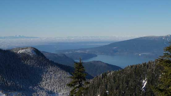 Could see Howe Sound and some islands and part of Sunshine Coast