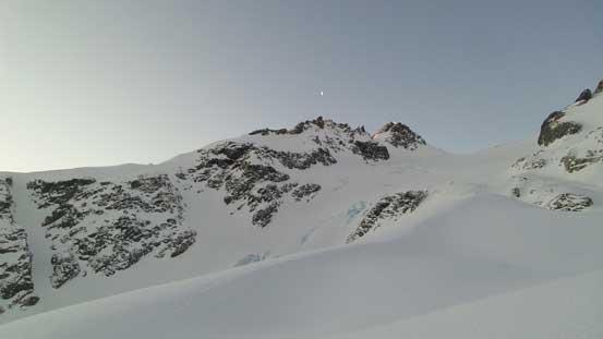 Mt. Matier looms behind Anniversary Glacier