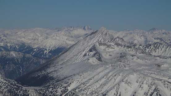 Mt. Truax rises behind the ramp of Mt. Marriott